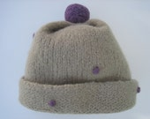 Hand knitted & Hand Felted Hat