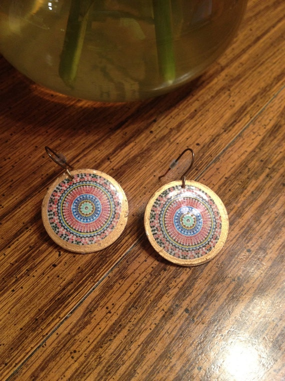 Native American Circle Dangle Earrings