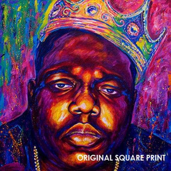 Biggie Painting Items similar to Biggi...