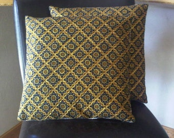Set of 2 Javanese Batik Ethnic quilted pillow covers