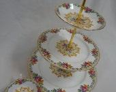 Vintage Paragon Minuet 3 Tiered Dessert Stand - 1 Reserved for Dana