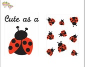 """Cute as a bug- 2 sheets NOT EMBROIDERED  - Iron On Appliques 3 1/2"""" X 3"""" wide  Heat Seal"""