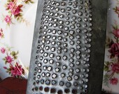 Antique Rustic Hand-Punched Cheese Grater- Shabby Chic Home Decor