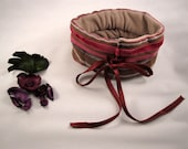 Cushion cervical lumbar relax lavender cherry pits ECO  grey pink handmade Mediterranean style