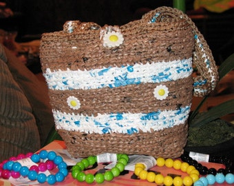 Crocheted  purses recycled from grocery bags,