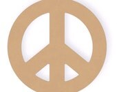 18 inch Unfinished MDF Wood Peace Sign