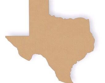 """12.25"""" Tall Texas Wood Craft Cutout Shapes"""