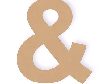 Three 12 inch Ampersand Wood Craft Cutout Shapes