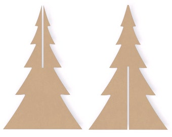 Tree cutout etsy for Wooden christmas cutouts
