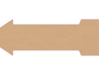 "Wood Arrow cutout - Sizes 15"" to 24"" - 1/4"" thick"