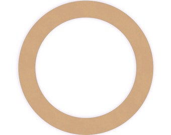 Quantity Three - 8 inch Unfinished Wood Ring Cutout Shapes