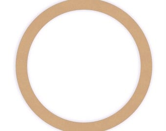 14 inch Unfinished Wood Ring Cutout Shape