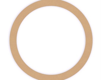 12 inch Unfinished Wood Ring Cutout Shape