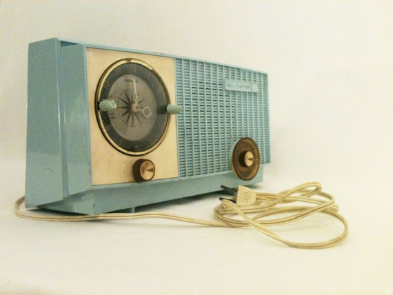 RCA Victor Radio, AM Radio, Vintage, Made in U.S.A., 1953-1963, Blue, Turquoise
