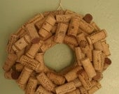 Small 8 inch Recycled Wine Cork Wreath Wall Decor