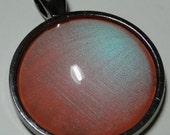 Color Club Tangerine Scream - 1'' Circle Nail Polish Jewelry Pendant