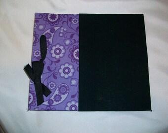Small Purple and Black Scrapbook Album