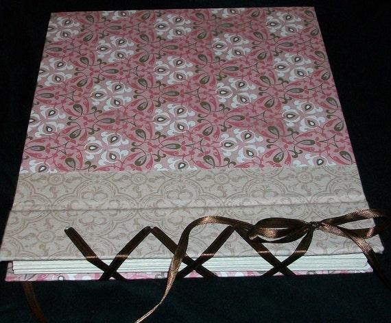 Large Pink, Tan and Brown Scrapbook Album