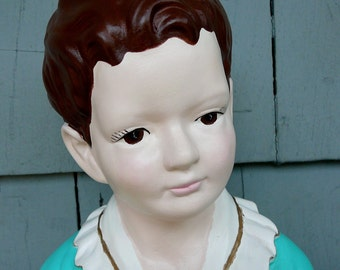 SALE-Vintage Dutch Boy Man Child Pottery Figurine