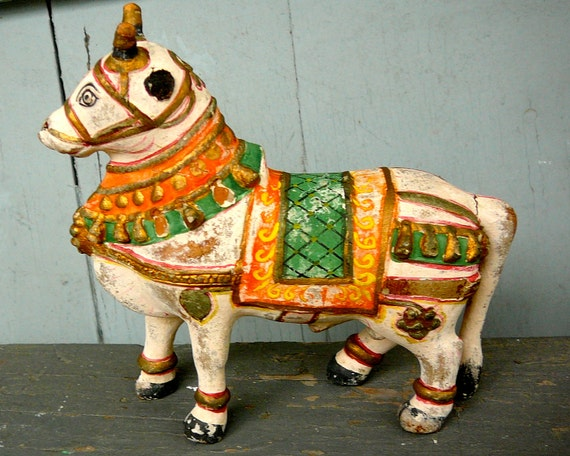 Vintage Painted Wooden Horse
