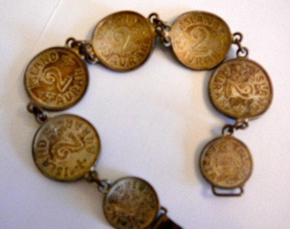 Vintage Island Aurar Coin Bracelet