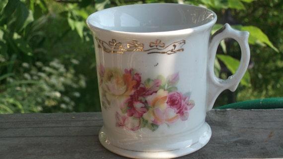 antique  porcelain shaving mug , marked Germany 115