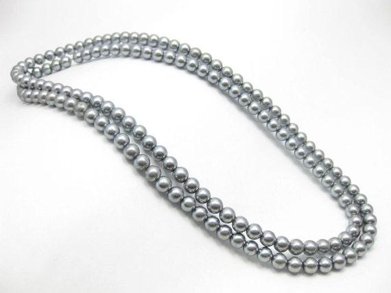 Glass Pearl 6mm - grey