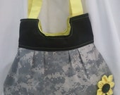 Military Pebble Bag Purse by Schtuff