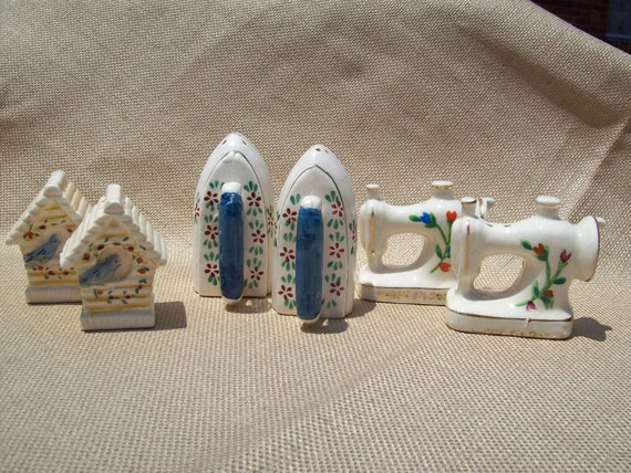 3 Sets Vintage Ceramic Salt and Pepper Shakers Made in Japan 1950s great Collection