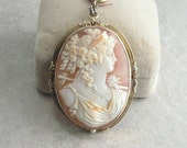 Very Vintage Cameo - Large Cameo Pendant And Pin Combination