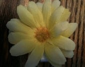 Yellow and White Daisy Hair Clip