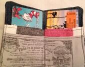 Repurposed Denim and Buffalo Check wallet