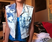 Studded and bleached vest