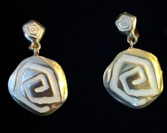 1960's Gold Swirl Dangles