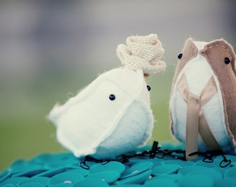 bird cake toppers sewn
