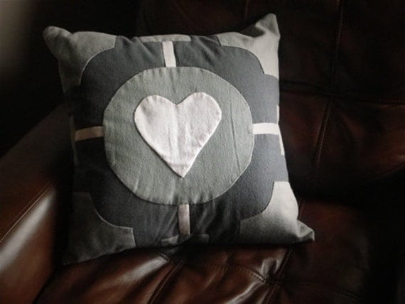 Portal Companion Cube Pillow