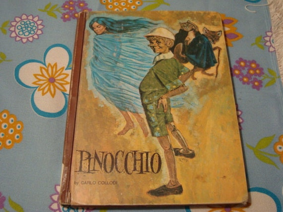 Pinocchio Hardbound Book by Carlo Colladi - 1968// Classic Books// Childrens Books// Classic Stories// Classic Hardbound Books// Education