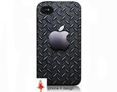 Apple Diamond Plate iphone 4  cell phone case, Iphone case, Iphone 4s case, Iphone 4 cover, i phone case, i phone 4s case