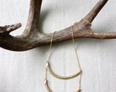 Double Curved Bar Necklace