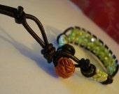 Lemon faceted crystal bead bracelet