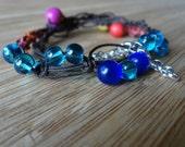 Beaded macrame bracelet, stackable bracelet, wrap bracelet
