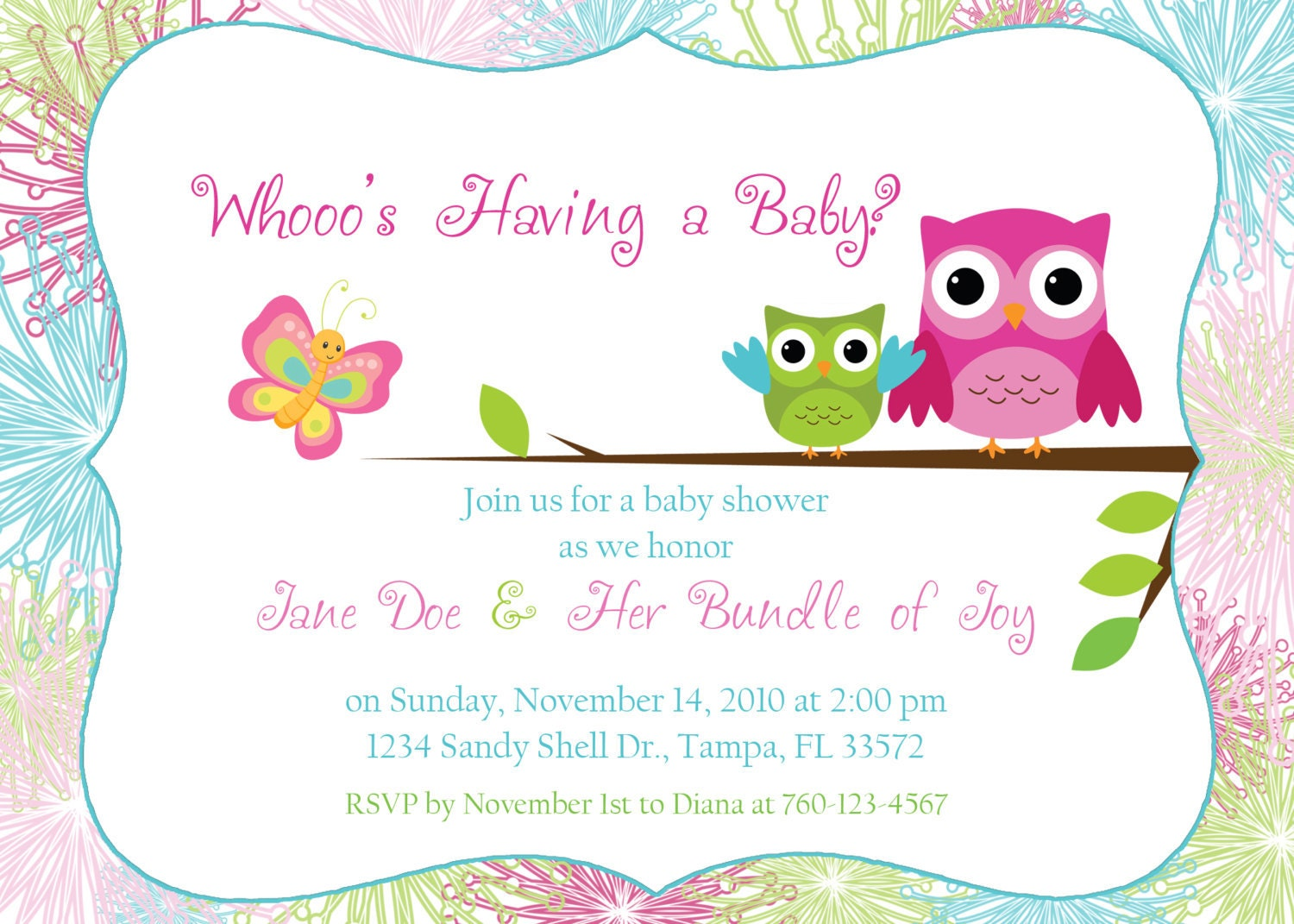 owl baby shower invitation template owl invitation template thank