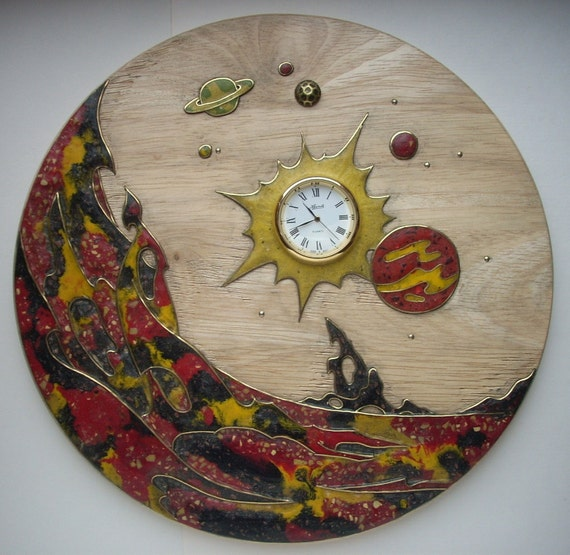 """Wooden decorative panel """"Outer Space"""""""