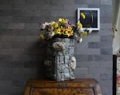 Wicker Crafts:stone-like vase(large)