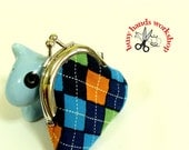 Small and cute Colorful Sock Print Kiss Lock Coin Purse