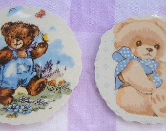 Broken China Mosaic Focal, Stoneware Focals, Teddy Bear Mosaic Focals, Mosaic Supplies, Hand Cut