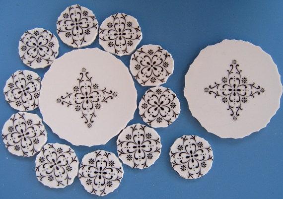 Broken China Focal Mosaic Tile, Black, White, Mosaic Supplies,Style Home, Granada, China