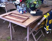 REDUCED Vintage Industrial Table Dining Work Folding Need Room in Shop