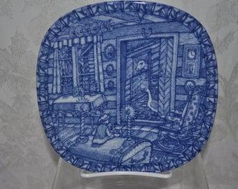 1973: Blue Farm in Smaland- Rorstrand Christmas Plate