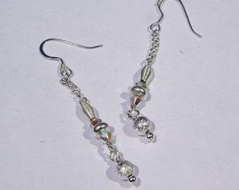 Swarovski and glass bead earrings